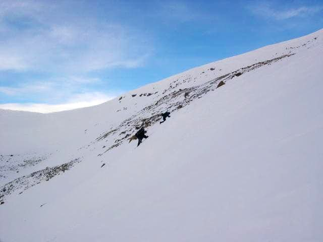 Climbing the southeast ridge...