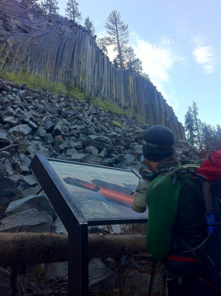 a quick stop by Devil's Postpile