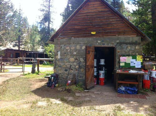 The bear proof shed. You food waits for you here.