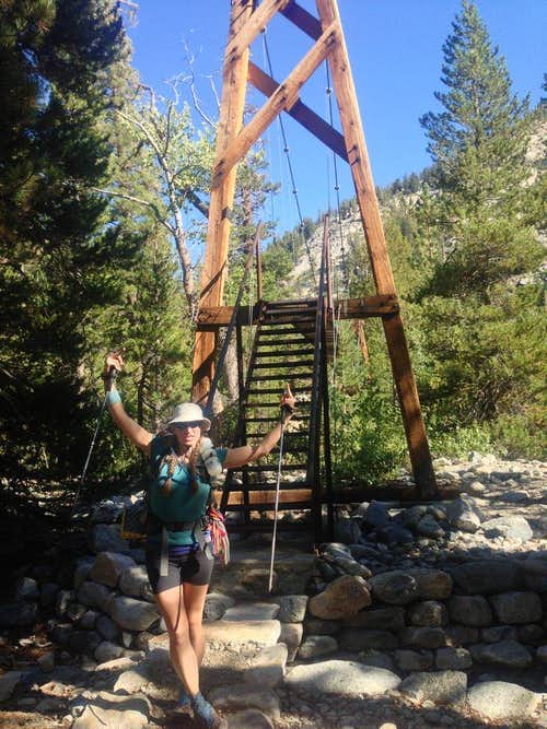 Celebration at Woods Creek after descent from Pinchot Pass