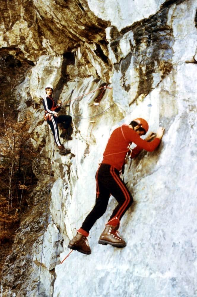 Old Climbings (An old climb) Lateral Traverse 1978