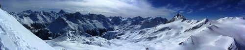 210° panorama from right below the SW summit of Mont de l'Etoile
