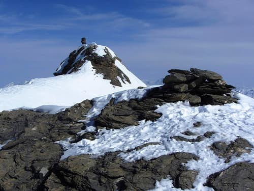 The true, NE summit of Mont de l'Etoile from the slightly lower SW summit