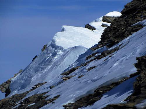 View along the summit ridge of Mont de l'Etoile