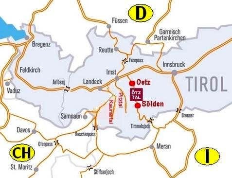 Route Map Geigenkamm