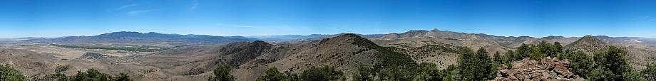 Rose Peak Summit Panorama