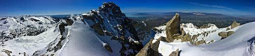 Lone Peak Summit Ridge Pano.