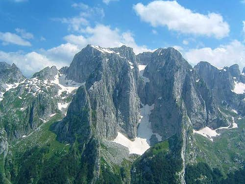 Karanfili Peaks group - from...