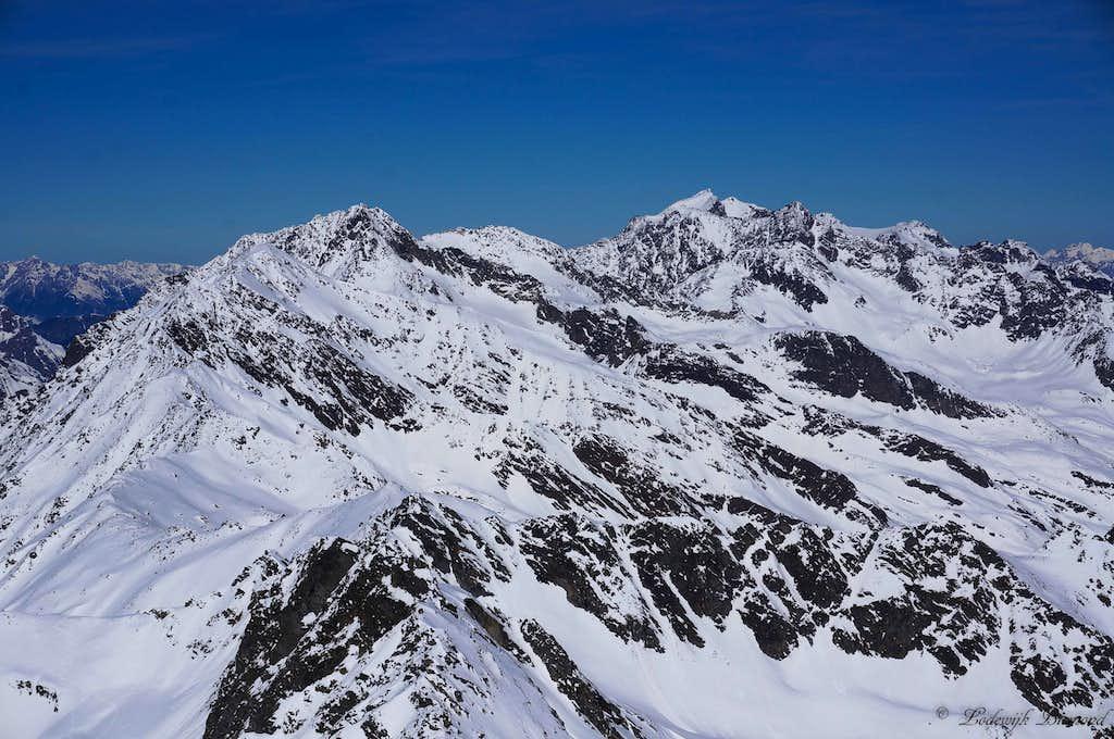Norther Geigenkamm Ridge as seen from Innere Schwarze Schneid
