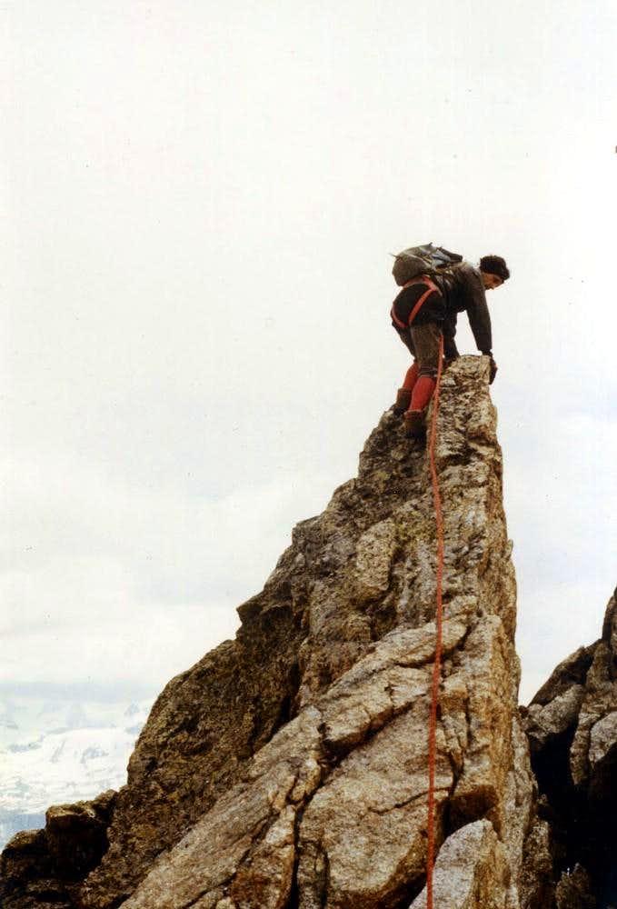Free Climbings ... Unnamed Jag of Percià Summit 1980