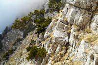 Rock face on 'Via Luzzo'