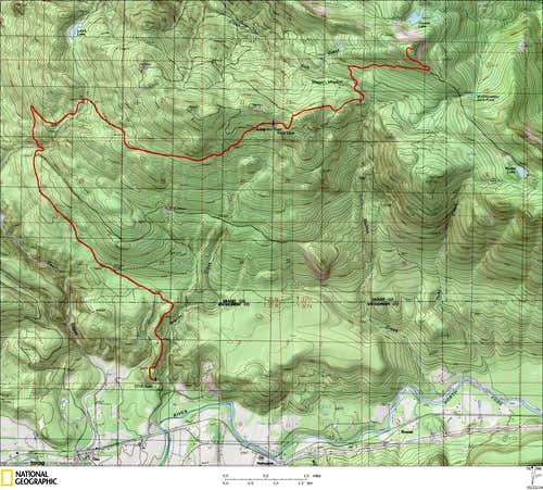 McGillicuddys Peak route map