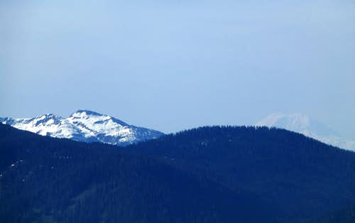 Pilchuck and Rainier from McGillicuddys Peak