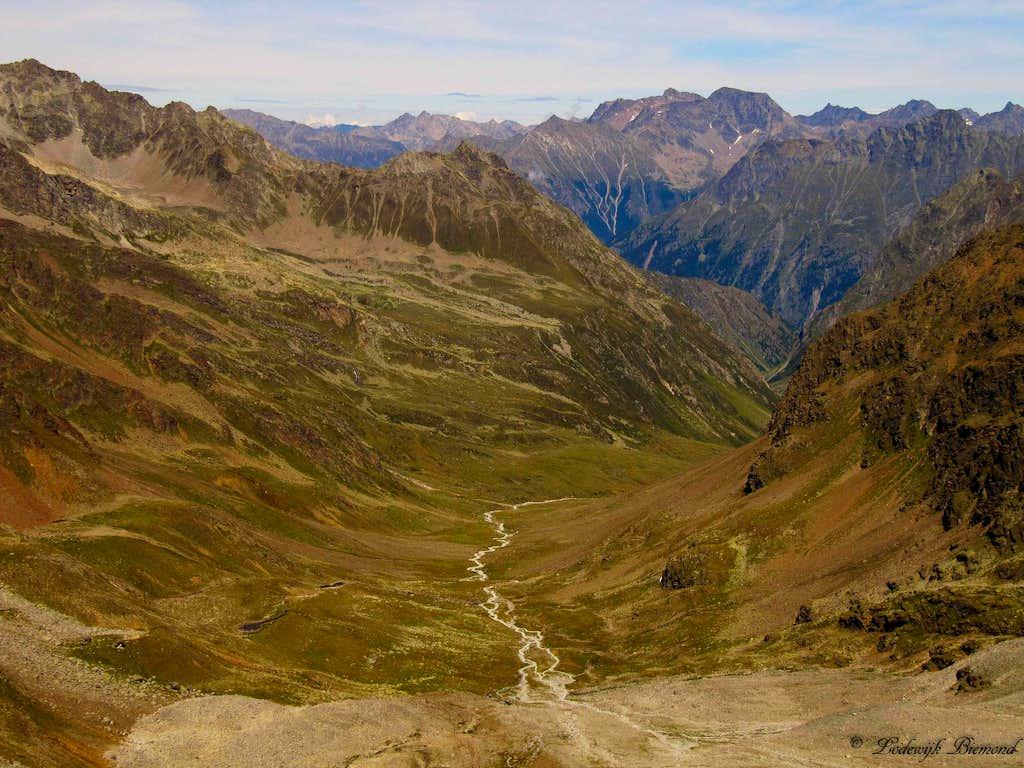 Pollestal as seen from Polleskogel (3015m)