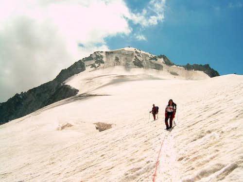 Along the glacier. The North...