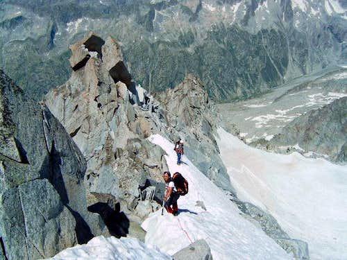 The ridge already climbed. On...