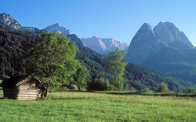 Hoellental as seen from the...