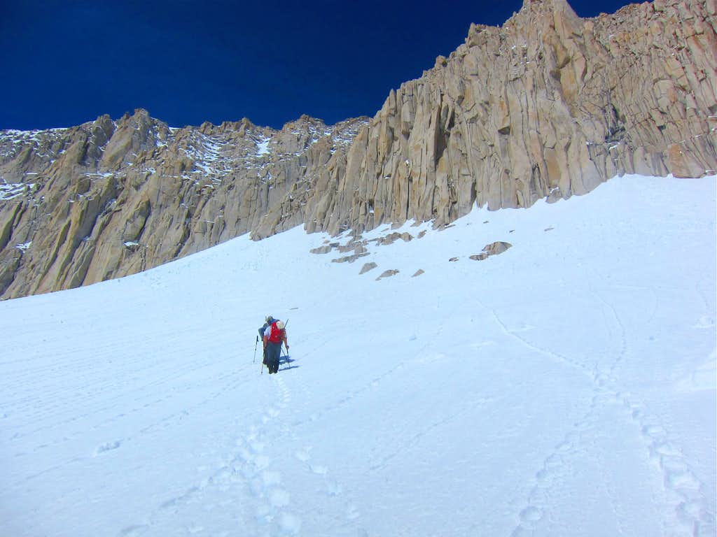 Approaching East Couloir