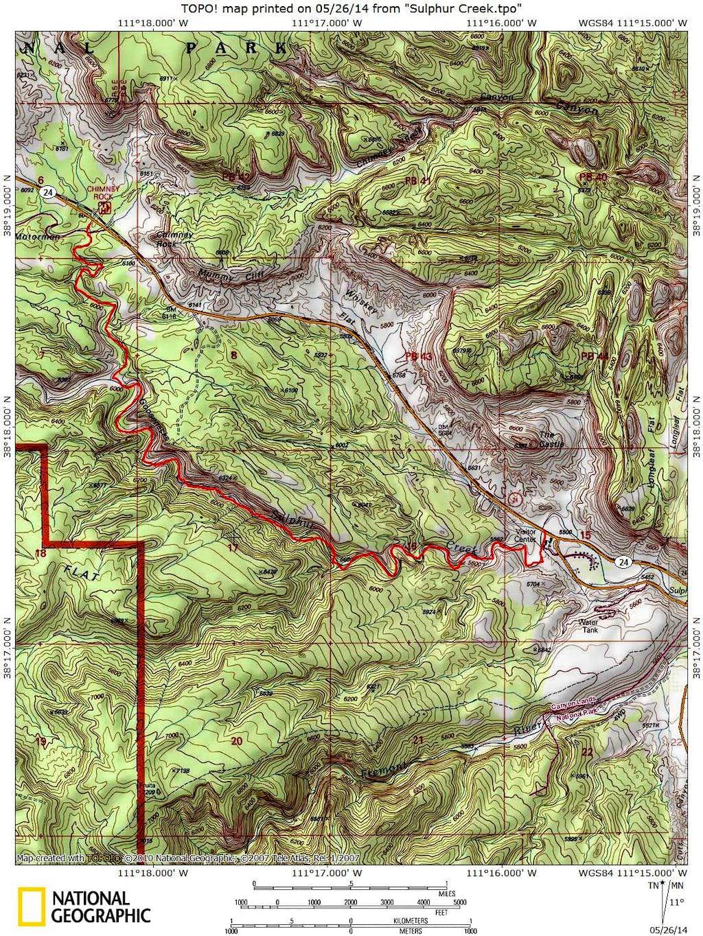 Sulphur Creek Route