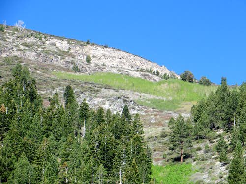 Cliffs on northeast side of Chocolate Peak
