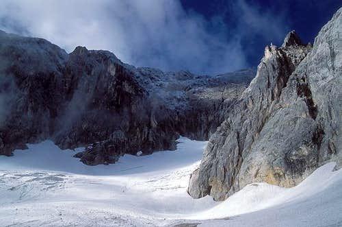 Hoellental glacier on...