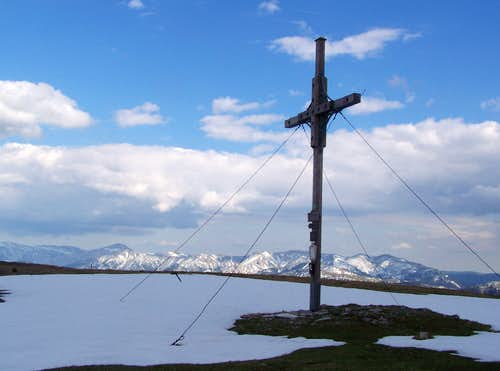 The summit cross of Göller