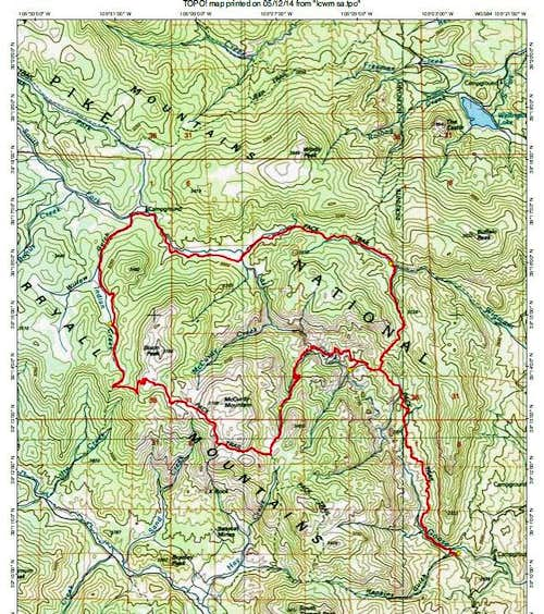 Lost Creek Wilderness Route