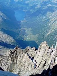 Lake Bissina from the ridge....