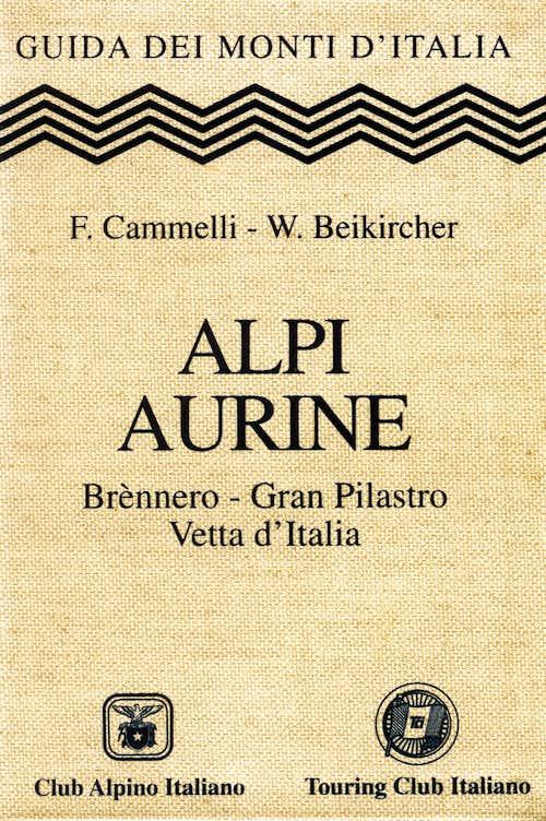 Alpi Aurine guidebook