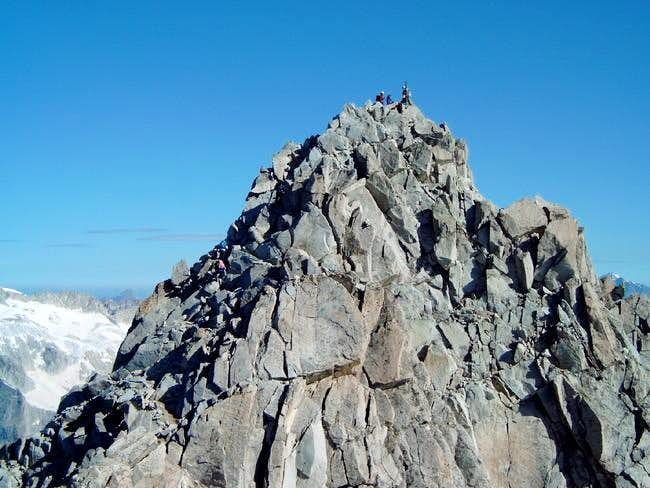 The triangle peak of the top...