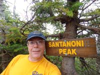 Santanoni Summit Sign