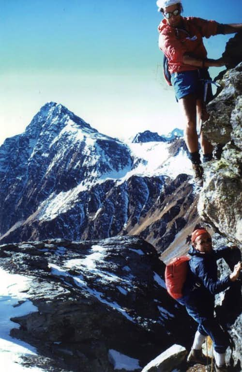 Becca Fontaney Descending on Southern Face 1986