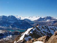 Cirque Peak with Bow Lake and...