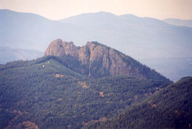 A close up of Mt. Si and the...