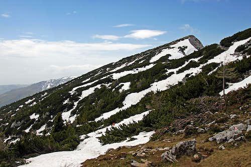 Velika Raduha from below its east ridge