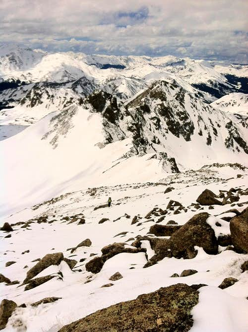 ridgeline to summit in late May