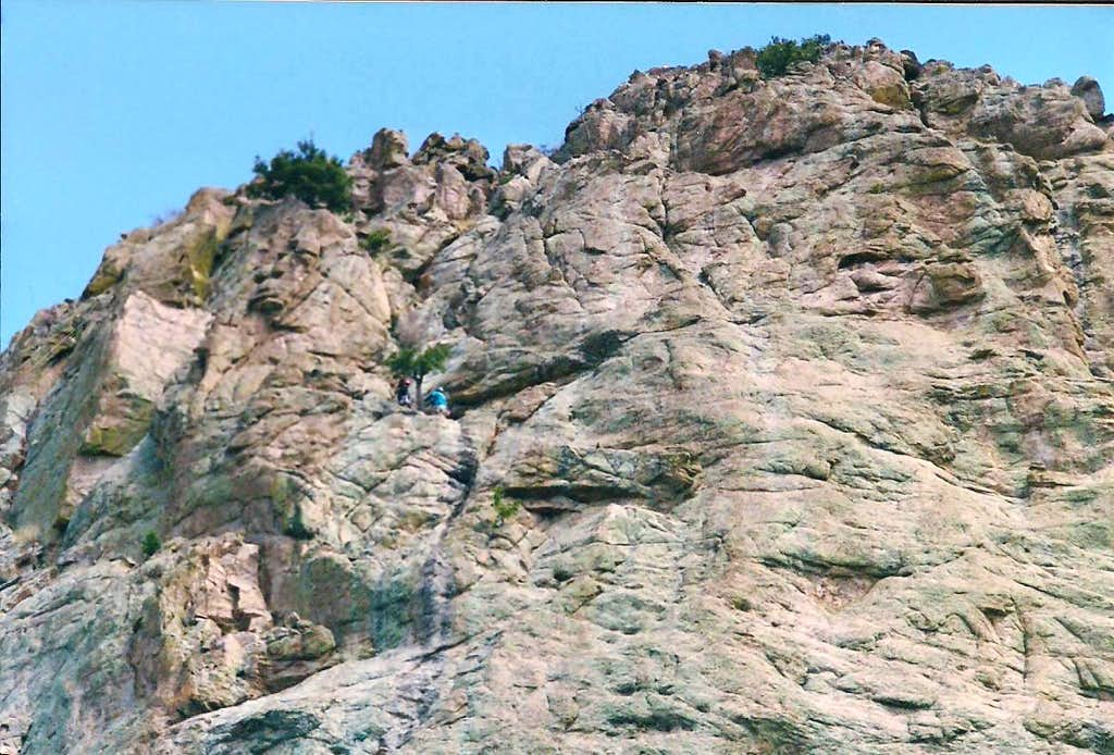 The lower pitches of the South Face