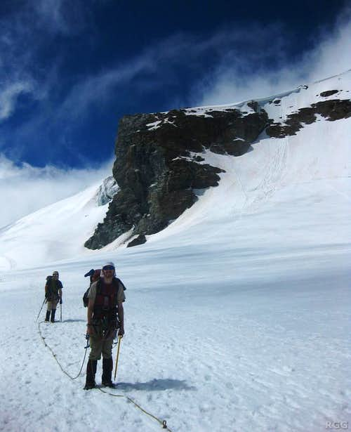Near the Schwarztor, with (a small part of) Breithorn in the background