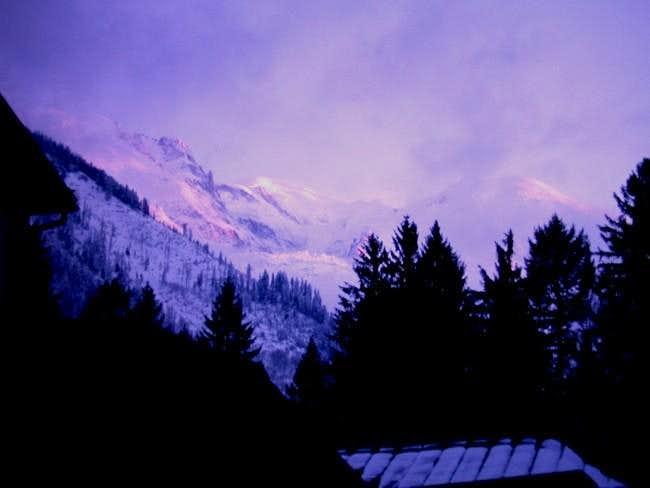 Mont Blanc from Chamonix,...