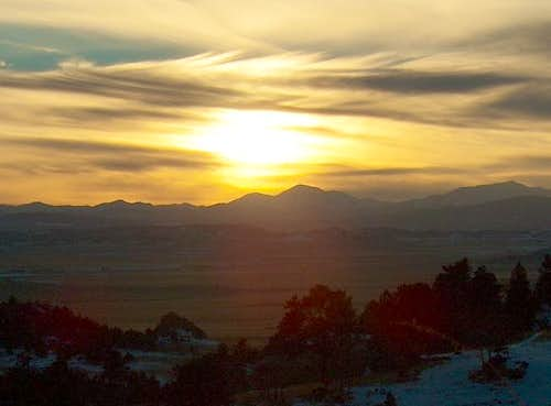 Sunset over Mt. Yale on...