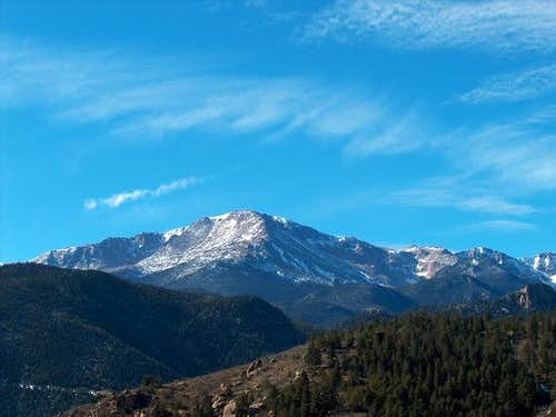 Pikes Peak from the high...