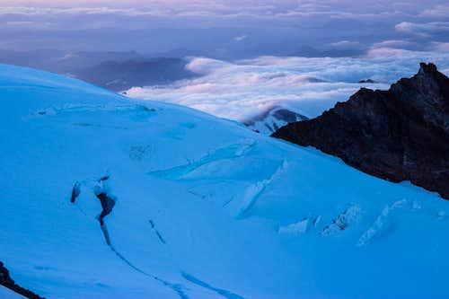 Sunset over the Emmons Glacier
