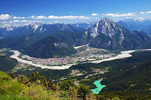 Tolmezzo from below Monte Verzegnis