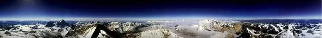 Panoramic view from Everest I...