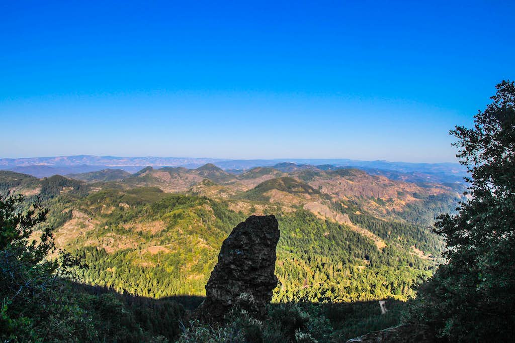 East  to the Palisades from St. Helena trail