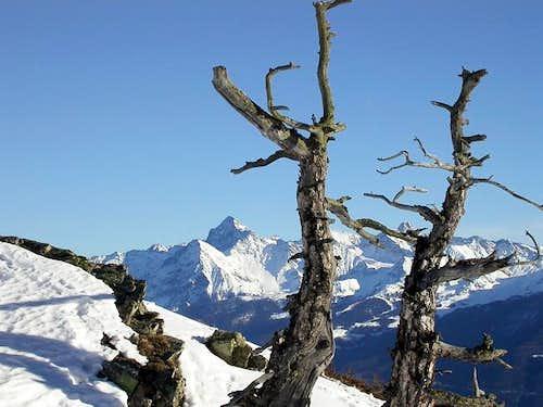 The Monte Emilius...