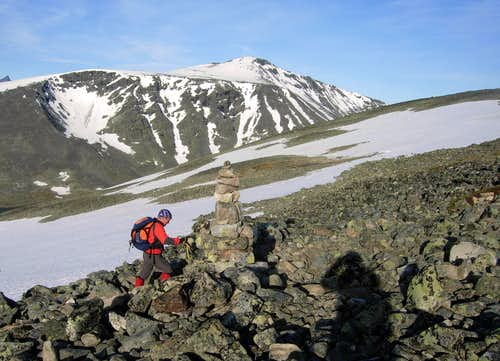 First stones' slopes on Glittertind East Flank