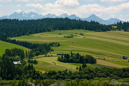 Tatra Mountains from Niedzica