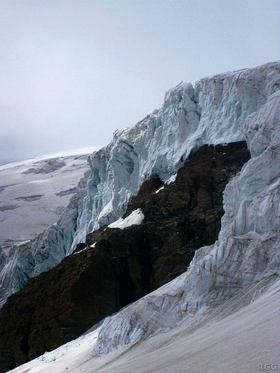 Icefall on Grande Ghiacciaio di Verra