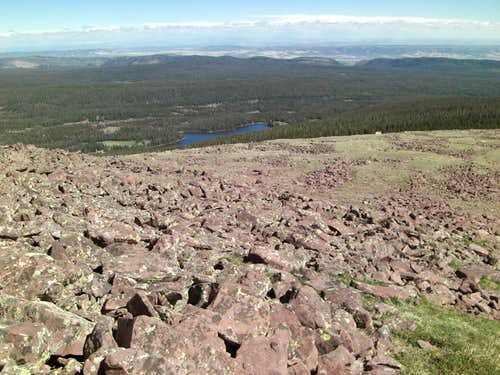 Spirit Lake from Daggett Ridgeline
